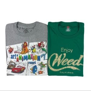 Shirt Bundle Disney Resort Animation Weed Cali